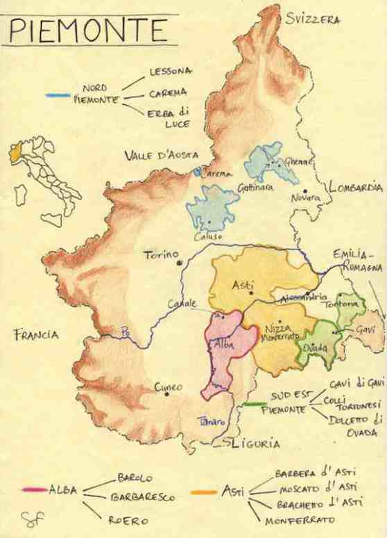 piemonte mapa