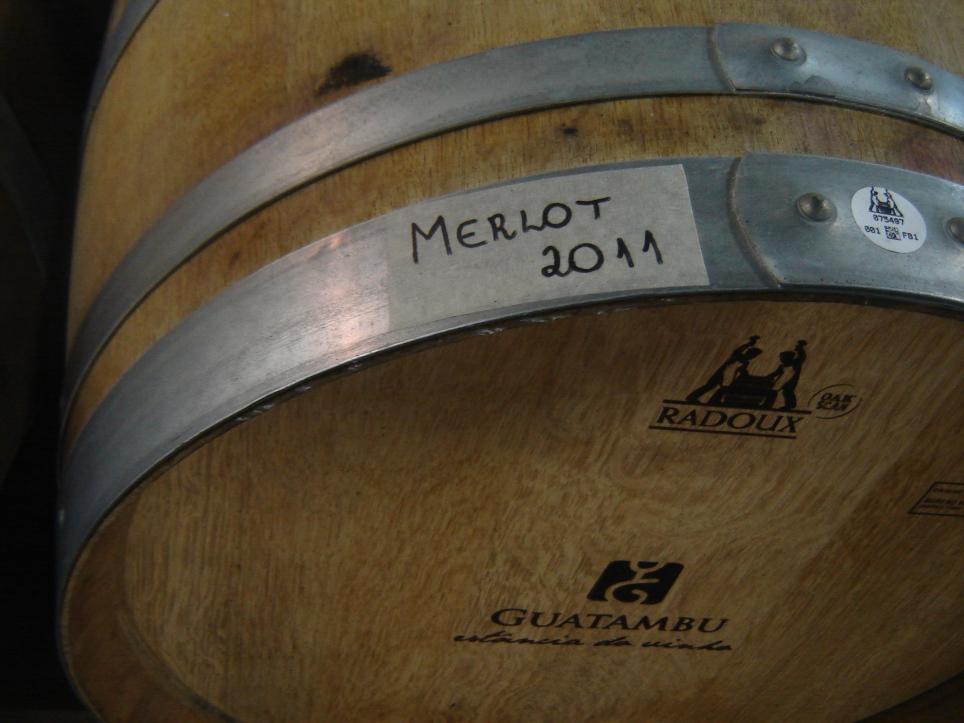 apresentação do vinho barricas