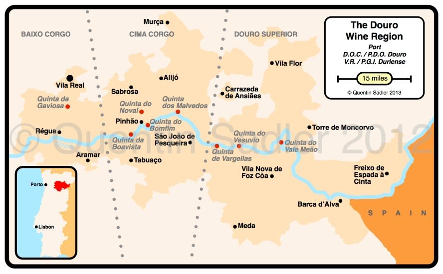 DOURO WINE MAP