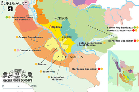 FRANÇA SWEET WINES MAP