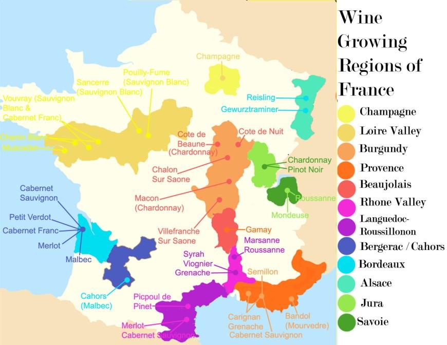 FRANÇA WINE MAP 1