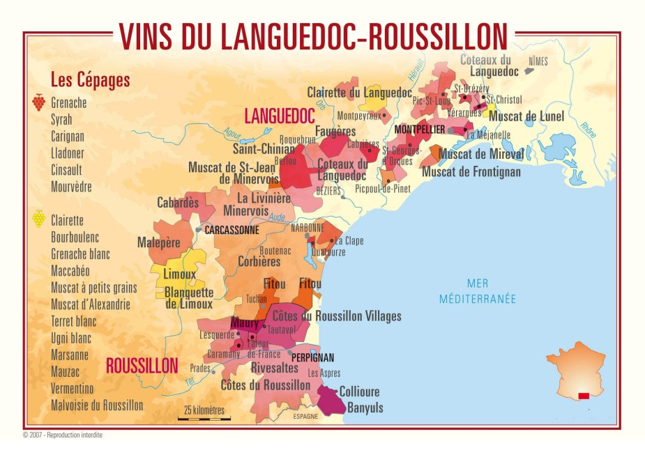 LANGUEDOC WINE MAP