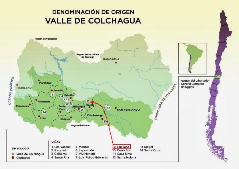 VALE DO COLCHAGUA MAPA
