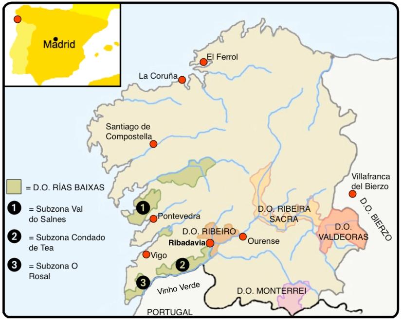 ESPANHA GALICIA MAPA 1